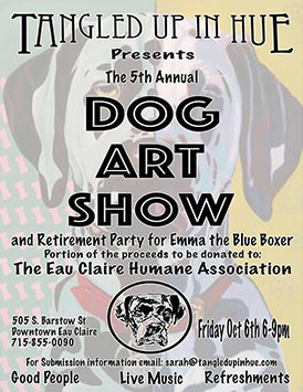 Annual Dog Art Show and Retirement Party